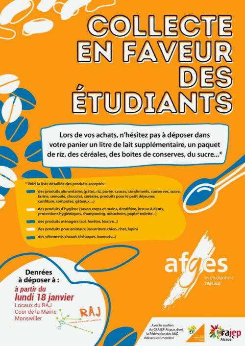 Le RAJ solidaire des étudiants !